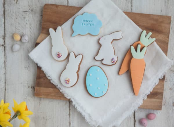 easter biscuit gift set, easter biscuits, personalised easter biscuits, bunny biscuits