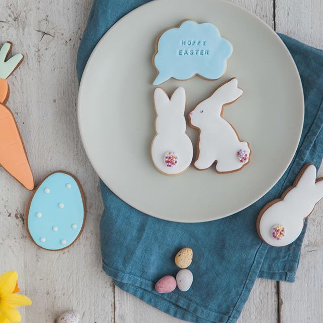 easter bunny biscuits, cute bunny biscuits, rabbit biscuits, easter biscuit ideas, handmade biscuits