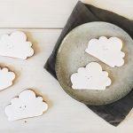 baby shower biscuits, cloud cookies, cloud biscuits, kawaii cloud biscuits, baby shower cookies