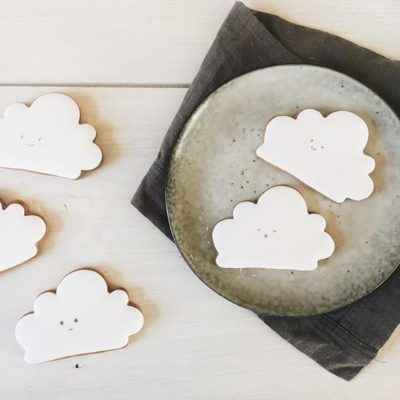 baby shower biscuits, cloud cookies, cloud biscuits, kawaii cloud biscuits, baby shower cookies