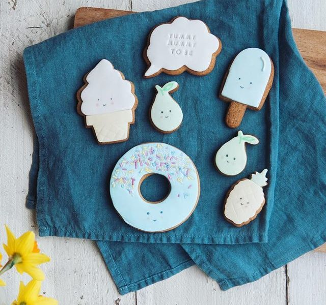 Biscuit gift for a mum to be, great baby shower gift, unquie gift ideas