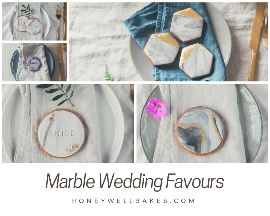 wedding favour ideas, marble wedding favour biscuits, marble wedding cookies, marble wedding cake, gold wedding cookies