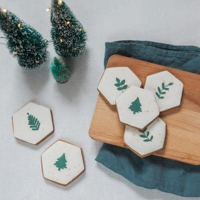 Botanical Christmas Biscuits