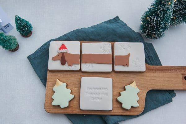 Sausage dog biscuit gift box