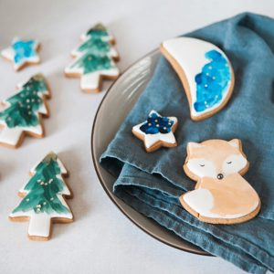 Woodland Christmas Biscuit Gift Tin