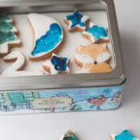 Woodland Christmas Biscuit Tin