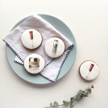 Edible ink printed branded business biscuits