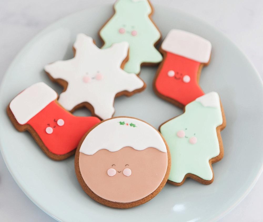 Six Cute Kawaii Christmas Biscuits