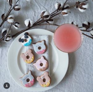 Animal Donut biscuits - panda, bear, pig and cat