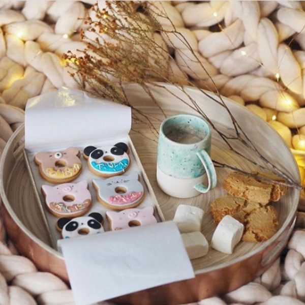 Animal doughnuts in biscuit form