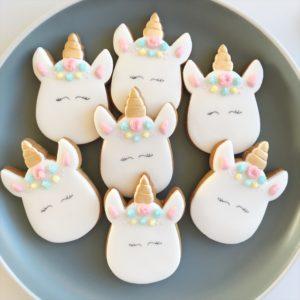 Handmade unicorn biscuit gift