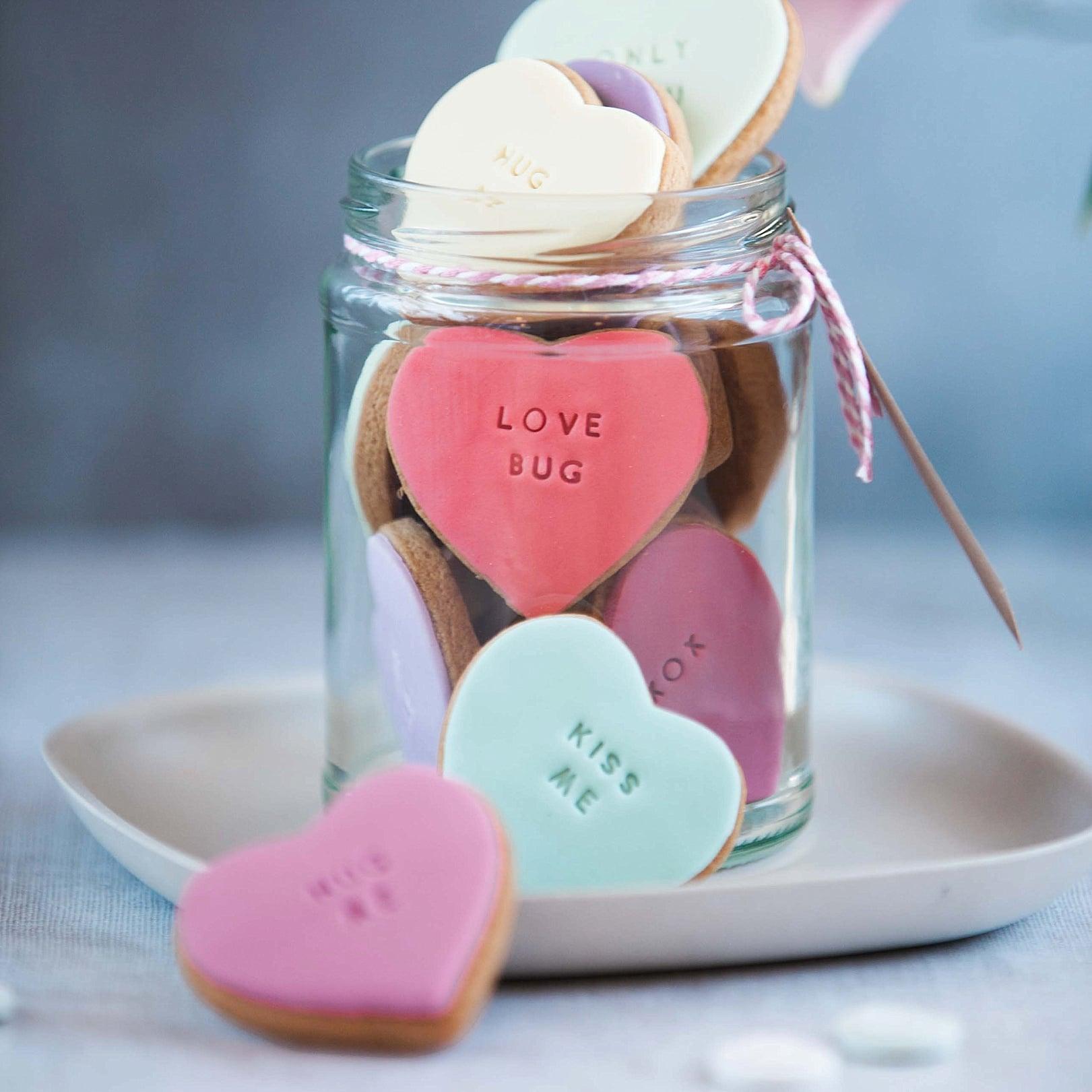 Jar of Love Heart Biscuits