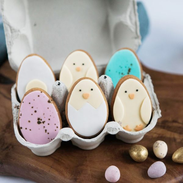 Easter Biscuits in an Egg Carton