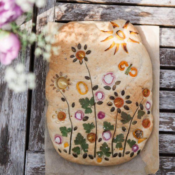 garden focaccia baking kit