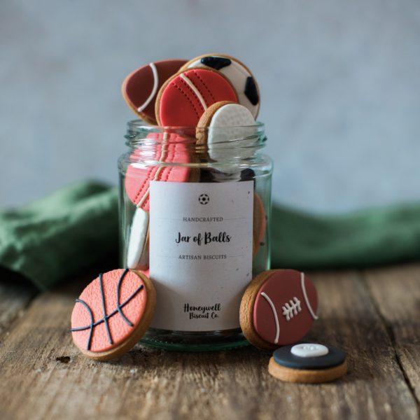 Jar of Balls Biscuit Gift