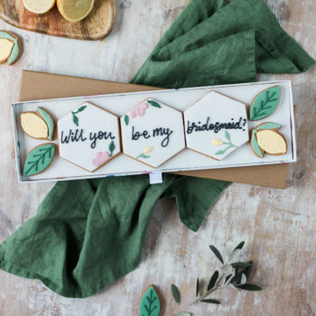 Cheerful Citrus Personalised Biscuit Gift