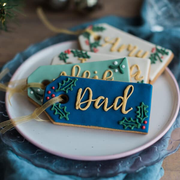 Personalised Christmas Tag Biscuit Gift